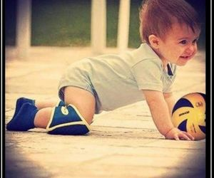 volleyball and baby image