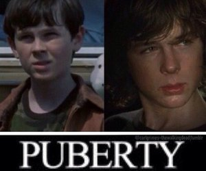 puberty, the walking dead, and chandler riggs image