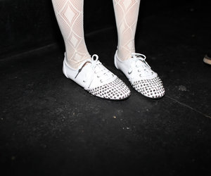 girl, shoes, and studs image
