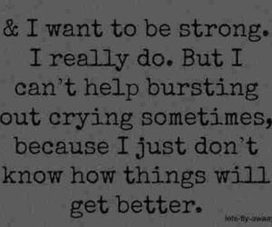 sad, quote, and strong image