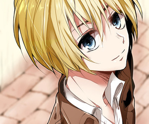 attack on titan and armin arlert image