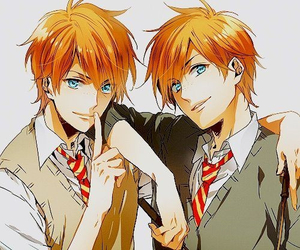 harry potter, anime, and twins image