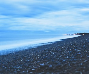 beach, black, and blue image