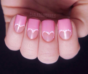 pink, heart, and nails image