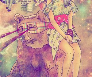 hipster and bear image