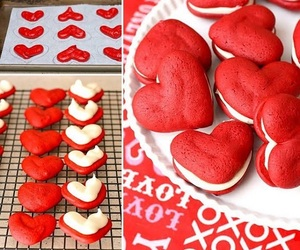 heart, food, and red image