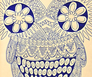 beautiful, flowers, and owl image