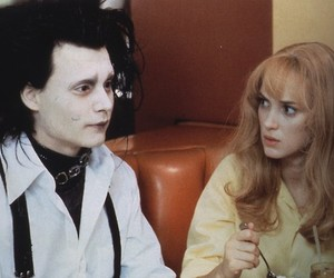 johnny depp, edward scissorhands, and winona ryder image