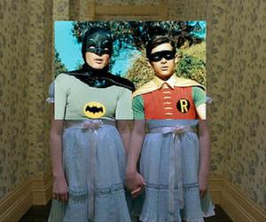 batman, robin, and vintage image