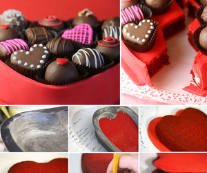 chocolate, sweets, and hearts image