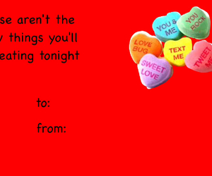 candy hearts, valentine, and valentines day image
