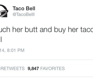 taco bell, butt, and taco image