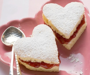 food, heart, and sweet image
