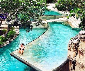water, bali, and pool image