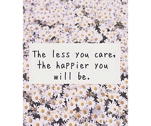happy and less you care image