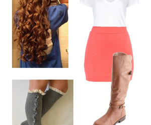boots, pink, and clothes image