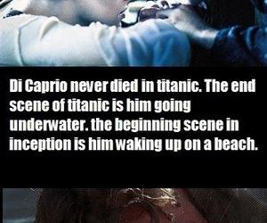 titanic, di caprio, and inception image