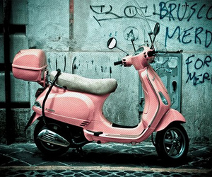 pink and Vespa image