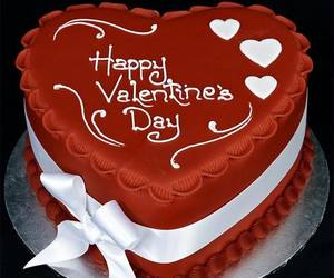 cake, red, and valentines day image