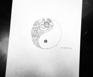drawing, floral, and life image