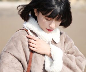 asian and winter coat image