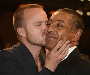 aaron paul, breaking bad, and giancarlo esposito image