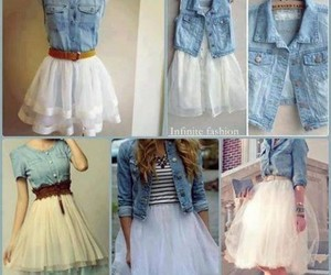 fashion, dress, and jeans image