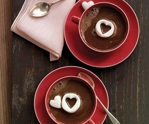 heart, chocolate, and coffee image