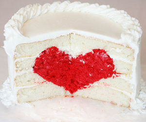 cake, heart, and food image
