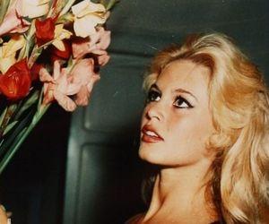 brigitte bardot, flowers, and vintage image