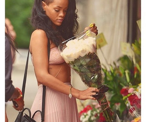 rihanna, flowers, and riri image