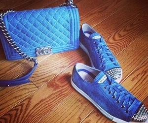blue, bag, and shoes image