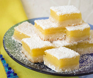 delicious, food, and lemon squares image