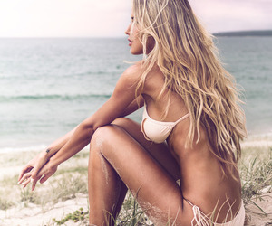 beach, sexy, and fit image
