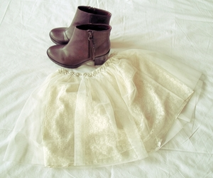 boots, white, and brown boots image