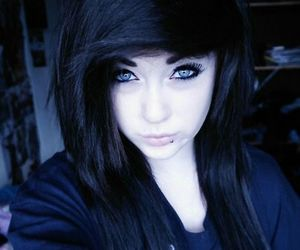 black, piercing, and emo image