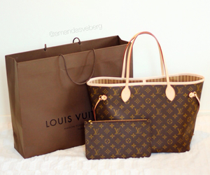 girl, handbag, and louis image