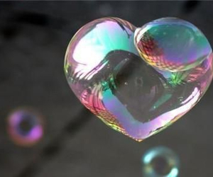 heart and bubbles image