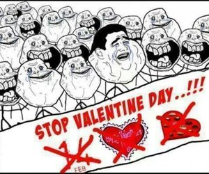 stop, funny, and valentine image