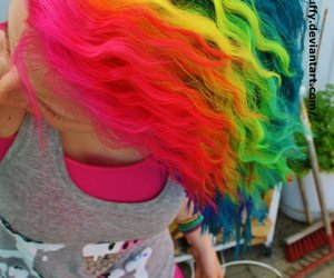 hair, colorful, and style image