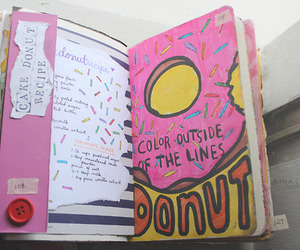 donuts, ideas, and wreck this journal image