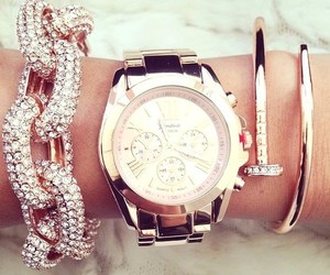 beautiful, gold, and watch image
