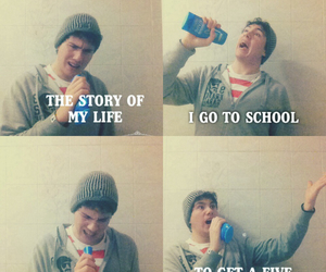school, funny, and one direction image