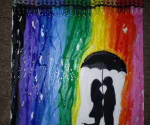 love, colors, and rainbow image