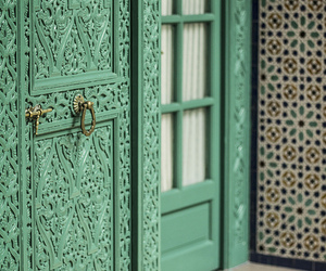 door, morocco, and architecture image