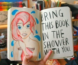 wreck this journal, art, and ariel image