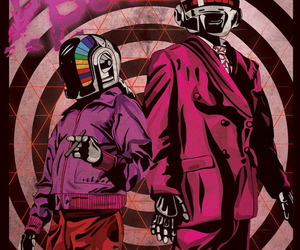 creative, daft punk, and illustration image