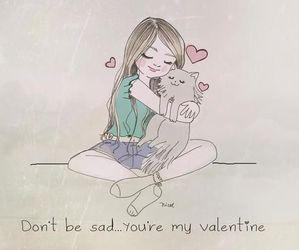 cat, love, and valentine image
