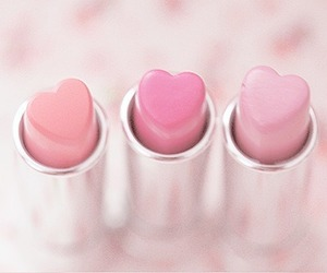 heart, make up, and pretty image