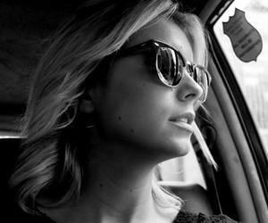 beautiful, blackandwhite, and blonde image